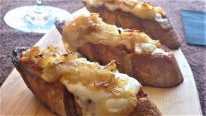 Receta de tosta con crema de queso